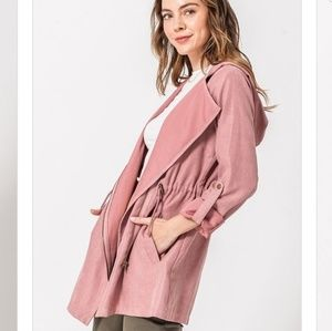 Black or Pink Cargo Hooded Athleisure Jacket